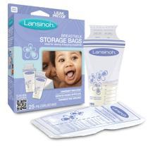 Sacos para armazenamento de leite 25 un - lansinoh - antivazamento - l01020006 -