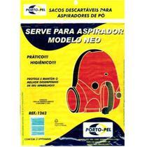 Sacos para Aspirador de Pó Serve P/ Modelo Neo c/ 3 Unidades Bn - Porto-pel