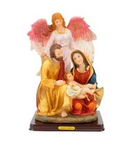 Sagrada Família Anjo Da Guarda 28cm - Enfeite Resina - Tascoinport