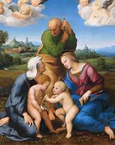 Sagrada Família Canigiani - Rafael - 30x38 - Tela Canvas Para Quadro - Santhatela