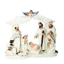 Sagrada Família de Resina Branco - 15 X 17 Cm - Cromus