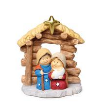 Sagrada Família Decoração Natal Em Resina 7Cm - Cromus