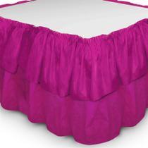 Saia Babado TNT Rosa Pink - Festabox