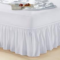 Saia Box Cama Solteiro Com Elástico Branca - Essência enxovais