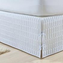 Saia Box King Matelassada Branco - Brilhante