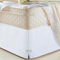 Saia Box Olimpo Microfibra em matelassê costurado - Queen - Branco - Lilly Home Enxovais