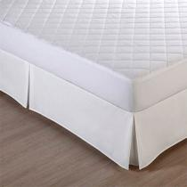 Saia Box Queen Size Percal 180 Fios  Cor Branca - Fassini Têxtil