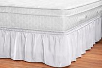 saia box renata branco 32 cm altura slim ajustavel para quarto casal queen  1 peça - Aquarela