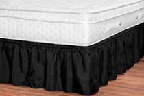 saia box renata preto 32 cm altura slim ajustavel universal quarto casal padrão queen e king 1pç - Aquarela