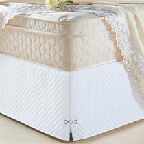Saia Box Veneza Branco Casal Queen - A Criativa