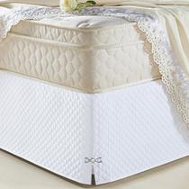 Saia Box Veneza Queen Branco - Exclusiva Moda Casa