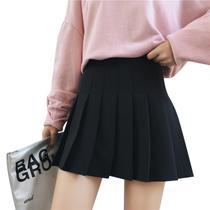 Saia estilo Colegial Pregueada Preta Lisa - Cosplay - Lolita - Anime Play