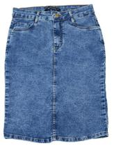 Saia Feminina Recuzza Midi Jeans - 1013 -