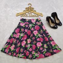 Saia Godê Midi Moda Evangélica Floral - Alê Vieira Ateliê