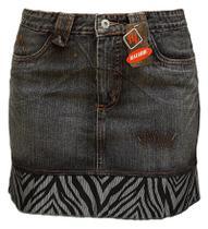 Saia Jeans Com Barra De Tecido - Razure