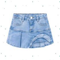 Saia Jeans Infantil Milon com Short Interno -