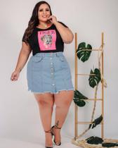 Saia Jeans  Plus Size - Nanda Fashion Boutique