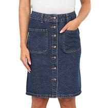 Saia Lapis Jeans com Botões - Bloom