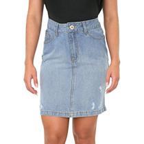Saia Lapis Jeans Destroyed - Bloom