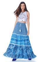 Saia Midi Azul Patchwork Yacamim Copy -