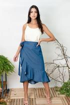 Saia Midi Envelope - Sisal Jeans