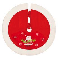 Saia Para Árvore de Natal Vermelha com Papai Noel 90cm 1 Pç - Cromus