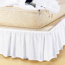 Saia para box conjugado pratic queen 01 peça - branco - Casa Fiorella