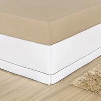 Saia para Cama Box Branco Queen Percal 180 Fios 01 Peça - Dourados Enxovais
