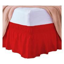 Saia para Cama Box Queen Marina Vermelho -