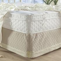 Saia Para Cama Box Queen Royalle 1 Peça - Palha - A Decorativa