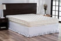 Saia para cama Probox Queen Pastilha Babado Branco Lavive -
