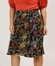 Saia Plus Size Feminina Midi Floral Marisa -