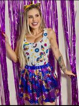 Saia tutu Metalizada para Brilhar no Carnaval - Flor De Lis Brás