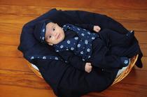 Saída de maternidade Bebê Menino Príncipe Colete Realeza 04 Peças - Sônia enxovais