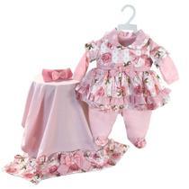 Saída de Maternidade Menina Bella Floral Rosa RN - Sônia enxovais