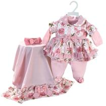 Saída de Maternidade Menina Bella Rosa - Tieloy