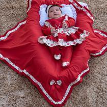 Saída de Maternidade Menina Charlotte Floral Vermelha - Zany Baby