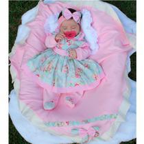 Saída de Maternidade Menina Charmosinha Rosa 05 Peças - Sonia enxovais