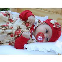 Saída de Maternidade Menina Karine Vermelha - Zany Baby