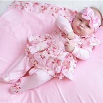 Saída de Maternidade Menina Kate Floral Rosa - Tieloy