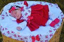 Saída de Maternidade Menina Luxo Floral Pink 05 Peças - Sonia enxovais