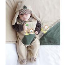 Saída de Maternidade Menino Amiguinhos Safari Bege - Tieloy