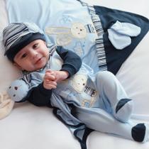 Saída de Maternidade Menino Coelhinho Azul - Casa E Baby Cia