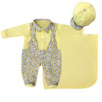 Saída de Maternidade Menino Luxo Girafinhas Amarelo - Tieloy