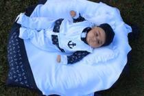 Saída de Maternidade Menino Marinheiro Marinho 05 Peças - Sonia enxovais
