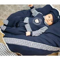 Saída de Maternidade Menino Príncipe Urso Marinho - Zany Baby