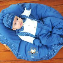 Saída de Maternidade Menino Raposa Azul RN - Sônia enxovais