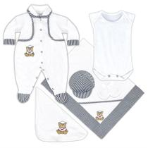 Saída Maternidade Urso Marinheiro - RN - Branco - Ursinhos - Precious Baby