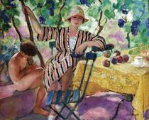 Saint Tropez - Henri Lebasque - 50x62 - Tela Canvas Para Quadro - Santhatela