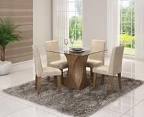 Sala De Jantar C/ Mesa e 4 Cadeiras Milena Savana/Sued Bege - Cimol